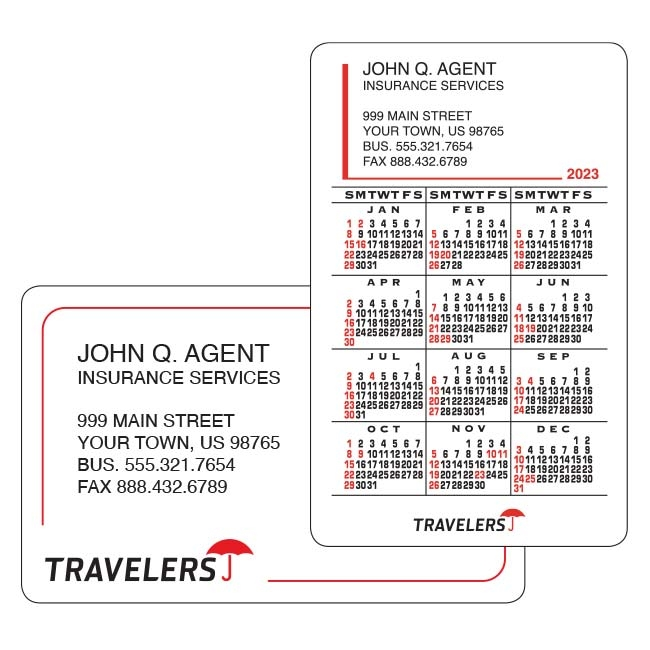 T59-11 Travelers Business/Calendar Card (sets of 250)