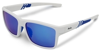 White Sunglasses with Blue Lens