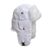 XL - White Supplex w/ White Faux Fur