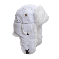 L and XL only - White Supplex w/ White Faux Fur