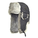 Supplex Mad Bomber Gray with Gray Rabbit Fur