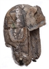 Bomber with Brown Rabbit Fur - Realtree Camo