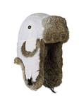 White Supplex Mad Bomber w/ Brown Rabbit Fur