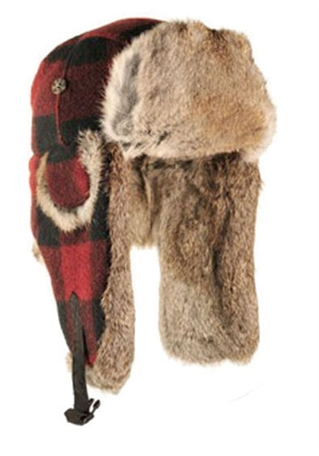 Wool Mad Bomber Maroon with Brown Rabbit Fur 156c9cb9f56