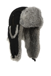 Lil' Supplex Bomber Black with Grey Rabbit  Fur  - Children Sizing