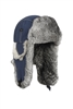 LiL Supplex Bomber Navy with Gray Rabbit Fur