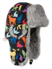 Lil' Supplex Mad Bomber Black with Grey Rabbit Fur
