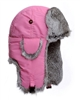 Lil' Supplex Mad Bomber Pink with Grey Rabbit Fur
