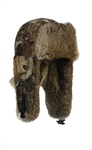 Kids Saddlecloth Mossy Oak Infinity Mad Bomber hat with Brown Rabbit Fur