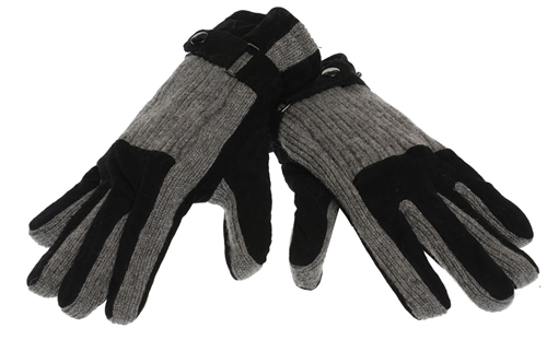 M And L Ony Black Grey Drivers Gloves