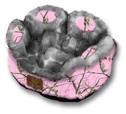 Mad Bomber Pet Bed-RealTree Pink Camo with Faux Fur for small dogs and cats!
