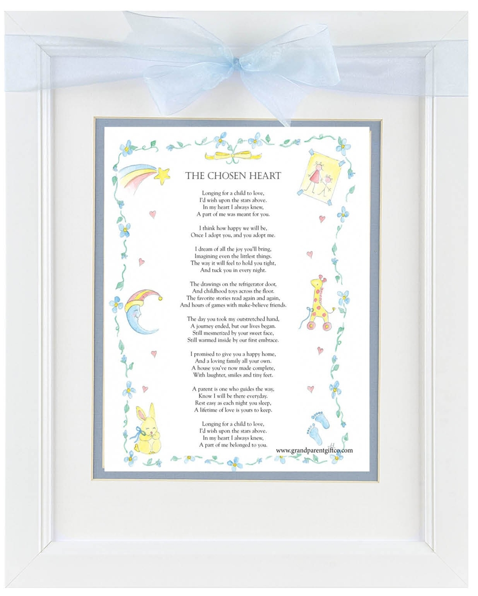 Adoption Frame: Chosen Heart Poem