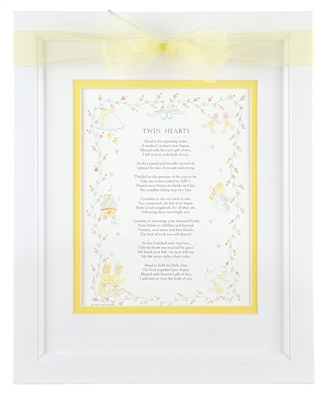 Twin Framed Poem