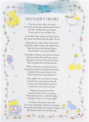 Mothers Heart New Baby Card