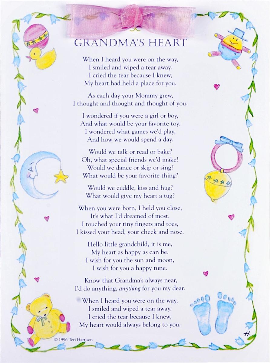 Grandmas Heart Greeting Card For New Grandchild