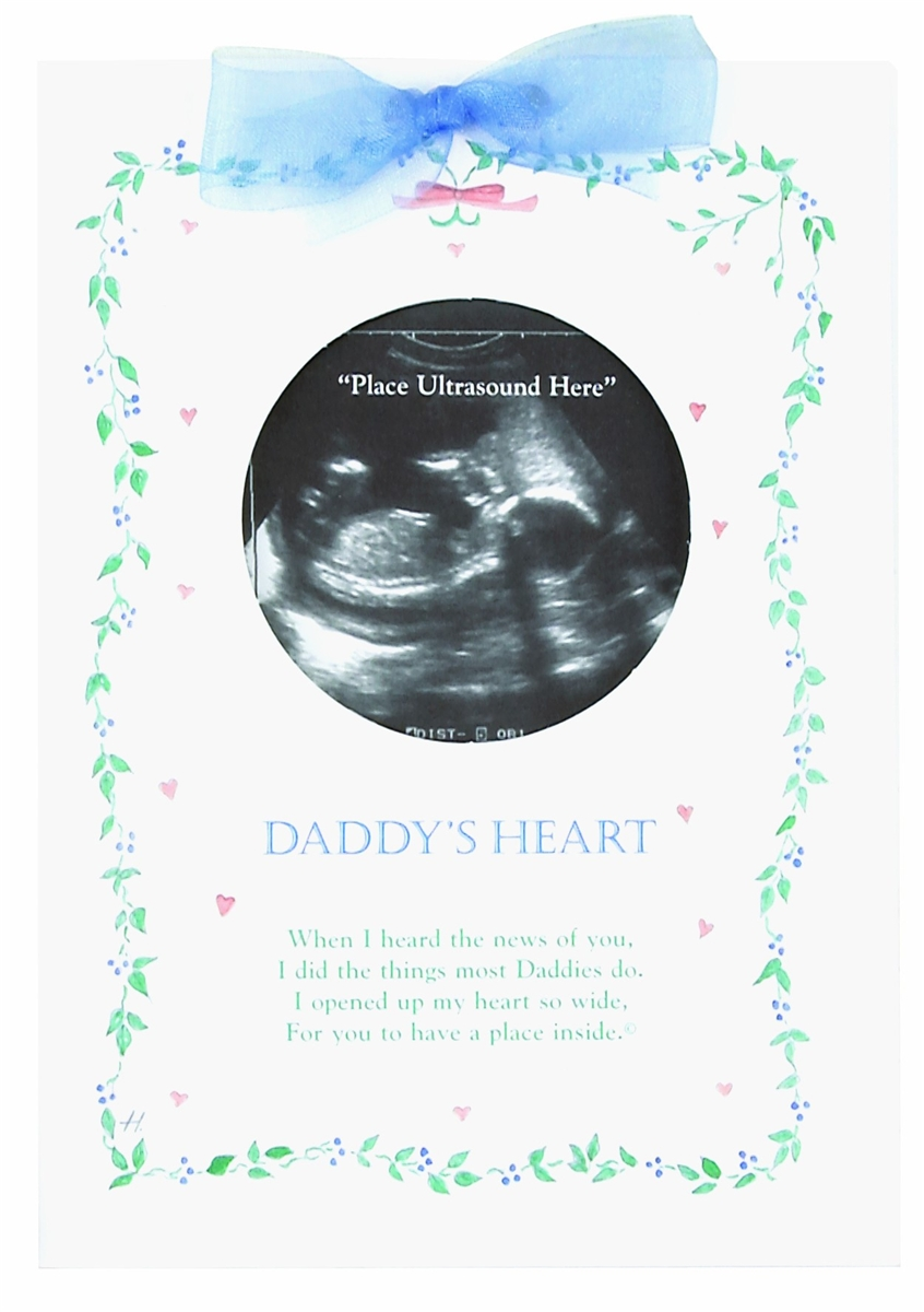 Daddy Ultrasound Greeting Card Daddys Heart