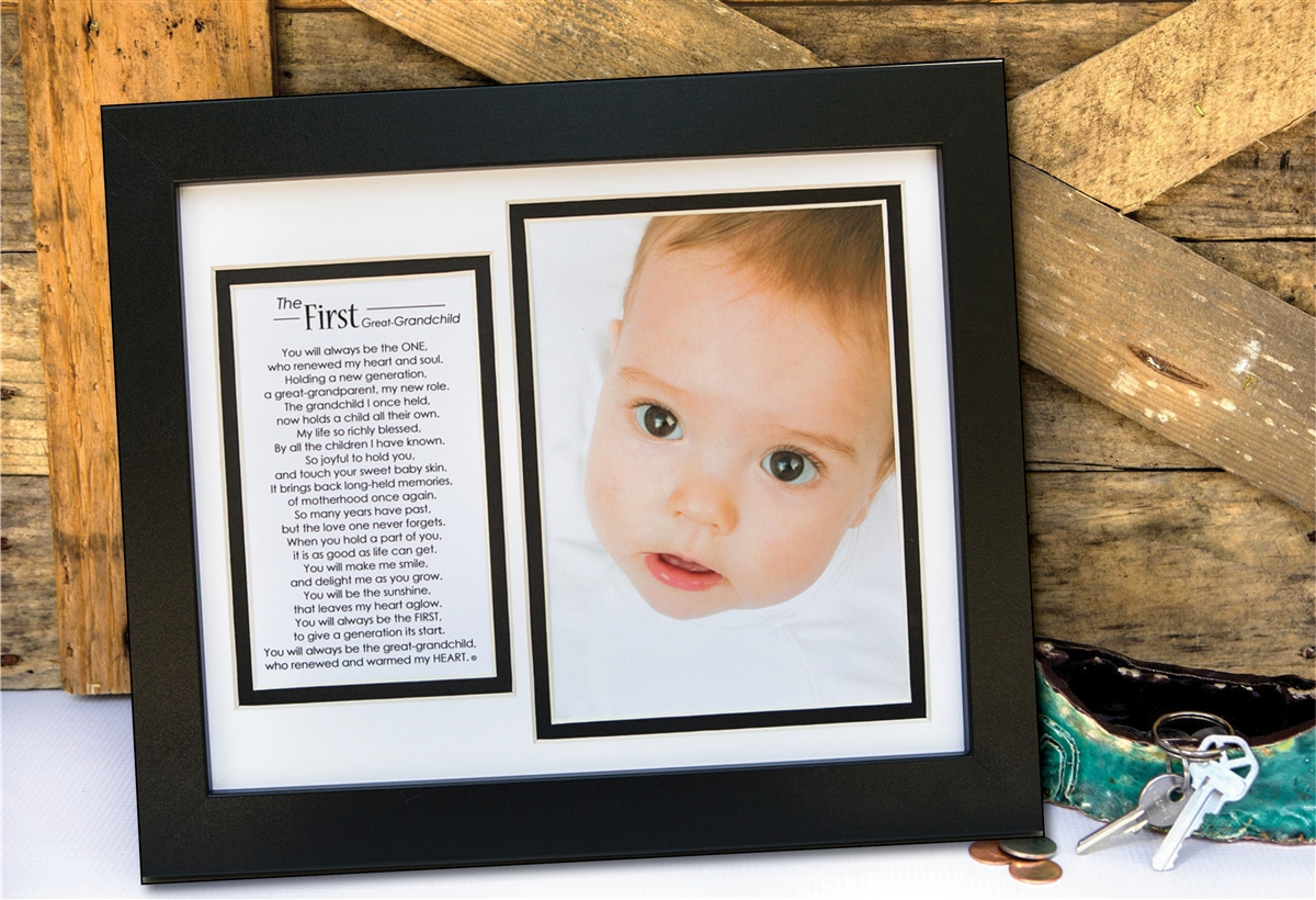 First Great Grandchild: Great-Grandparent Keepsake Frame