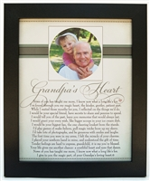 Grandpa's Heart Poem Home Decor