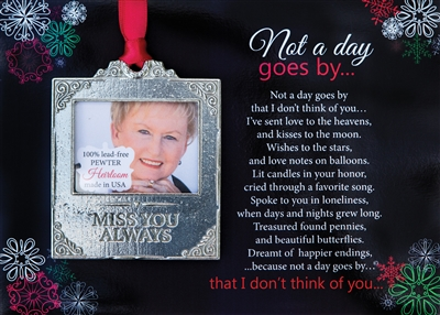 Heirloom Memorial Photo Ornament