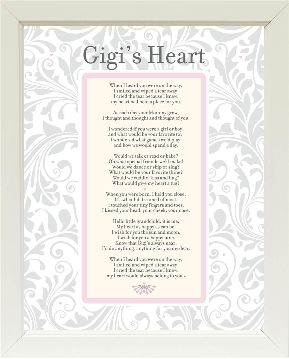 Personalized Grandma Frame: Grandma\'s Heart Poem