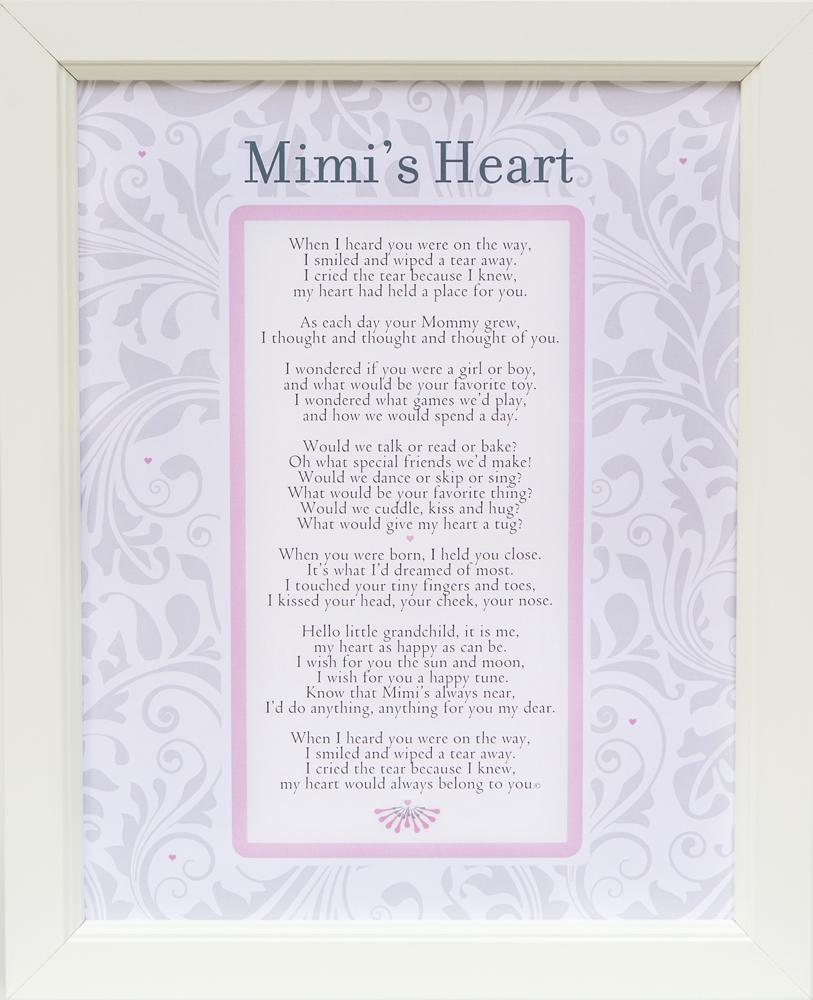 Mimi\'s Heart Poem Frame 11x14