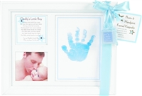 Daddy's Little Boy Handprint Frame