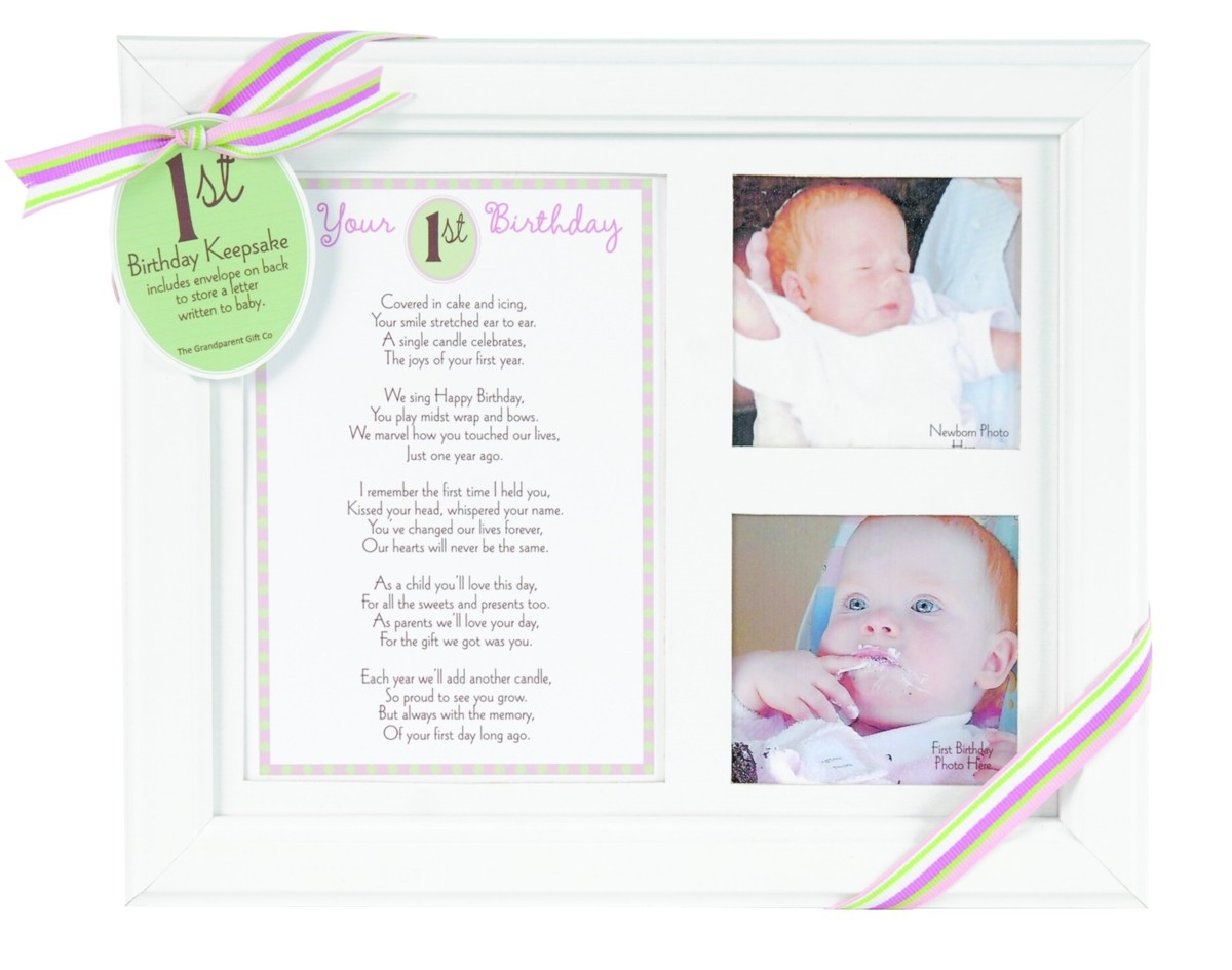 First Birthday Keepsake Picture Frame Jpg 1200x945 Baby Gifts From Grandparents