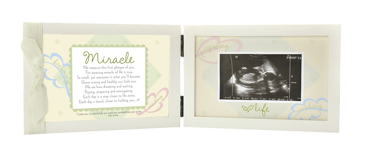 Miracle Ultrasound Frame With Scripture