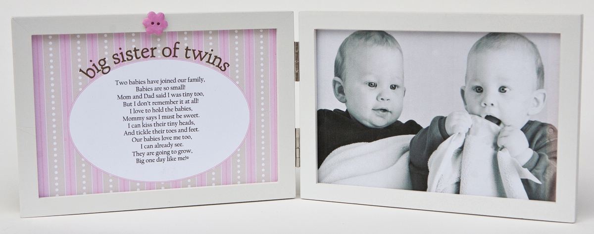 Big Sister of Twins Frame 4x6