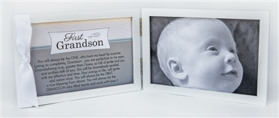 First Grandson Photo Frame