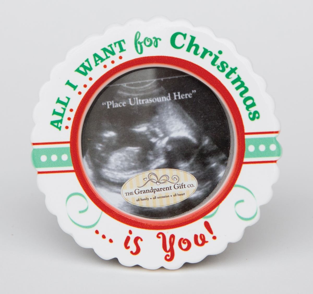 All I Want Baby Christmas Ultrasound Ornament
