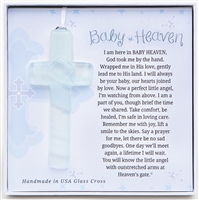 Baby Heaven Memorial Glass Cross