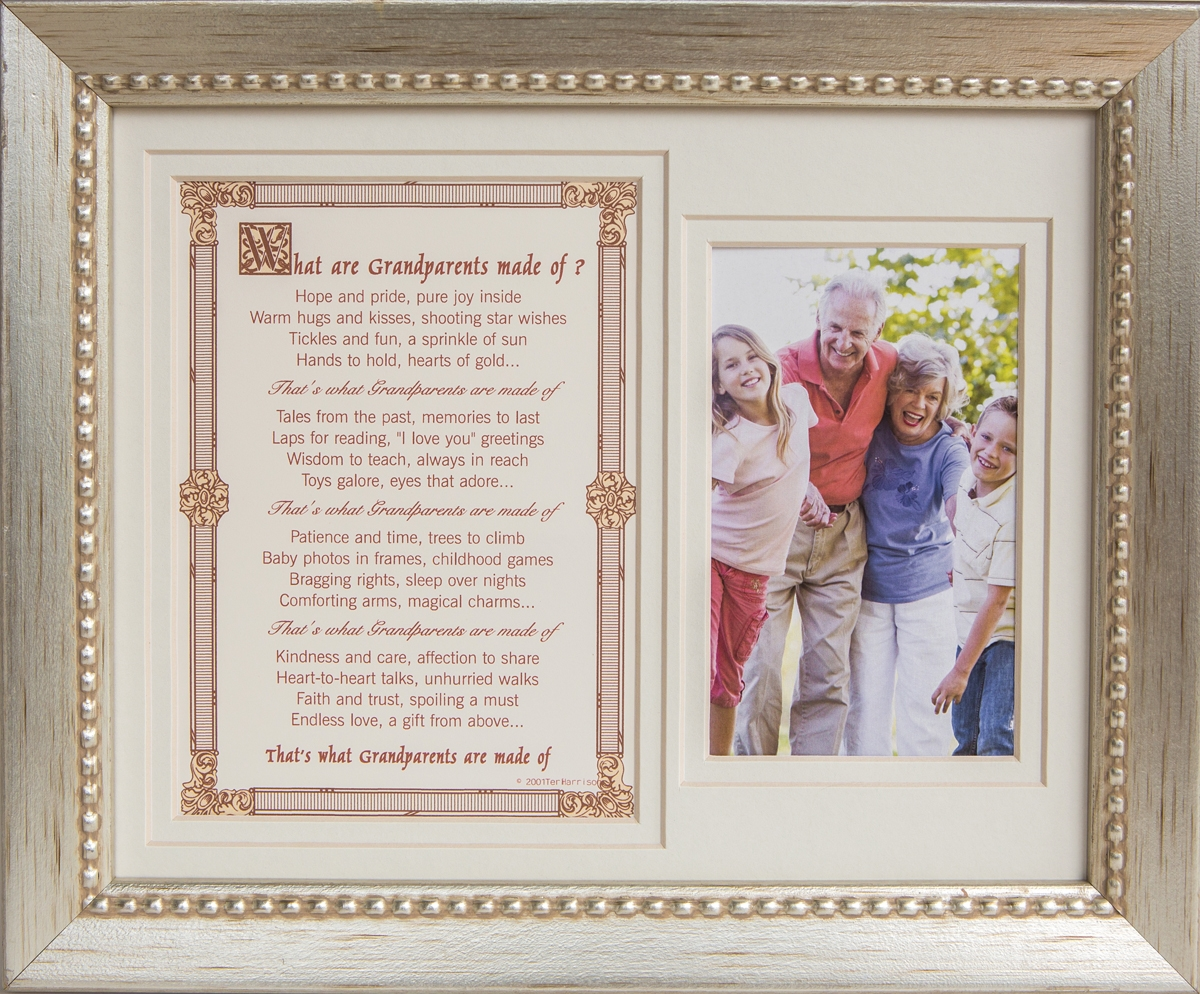 What are Grandparents made of 8x10 Sentiment Frame
