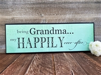 Happily Grandma Wall Plaque
