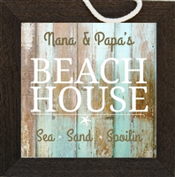 Nana and Papa Beach House Sign