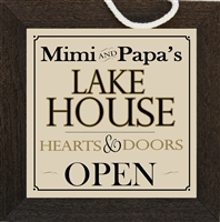 Mimi and Papa Lake House Sign