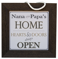 Nana and Papa Home Sign