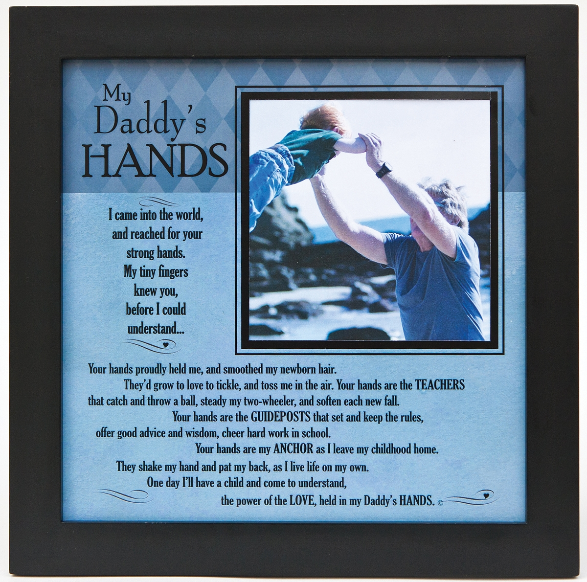 My Daddys Hands Poem Frame For Dad