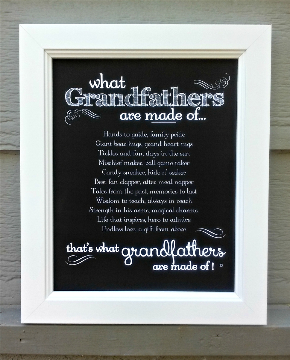 Grandfather Frame: Grandfathers Made of Poem