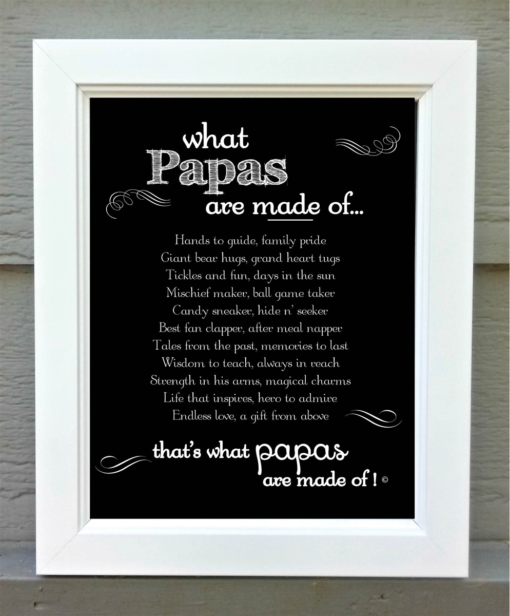 Papa Frame Papa Made Of Poem