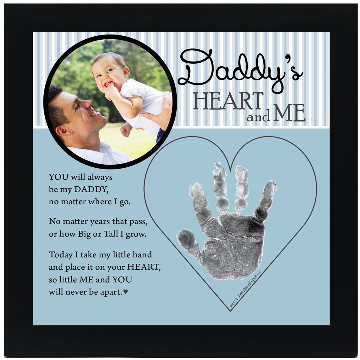 Daddy Handprint Frame From Child