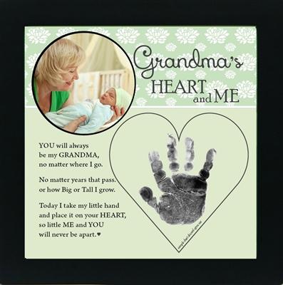 Grandma Handprint Frame From Grandchild