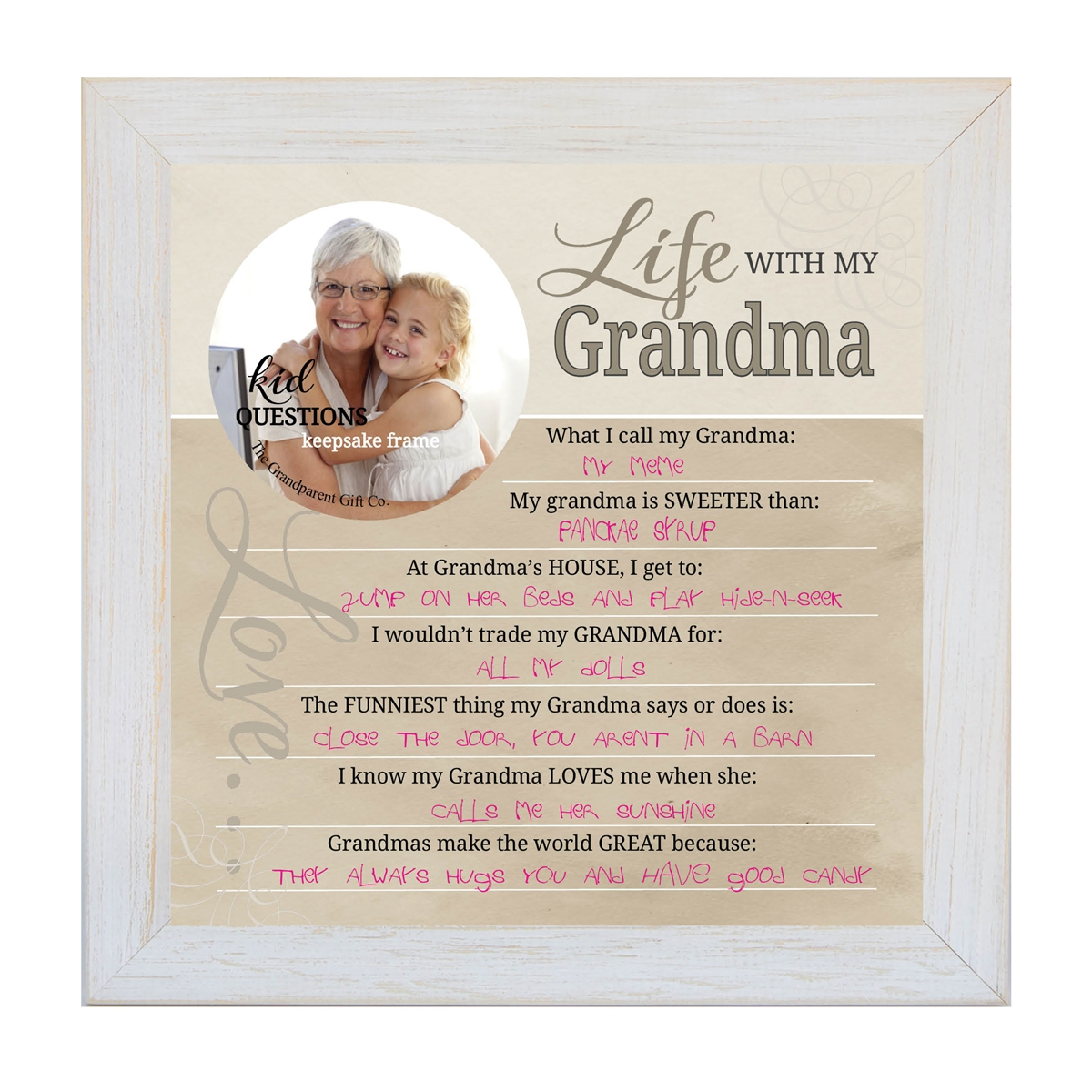 Kid Question Frame for Grandma