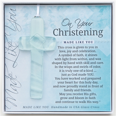 Christening Glass Cross