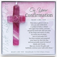 Confirmation Glass Cross Girl
