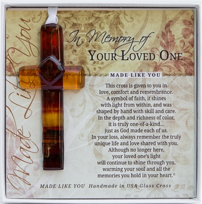 Memorial Glass Cross