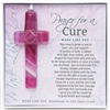 Prayer for a Cure Glass Cross