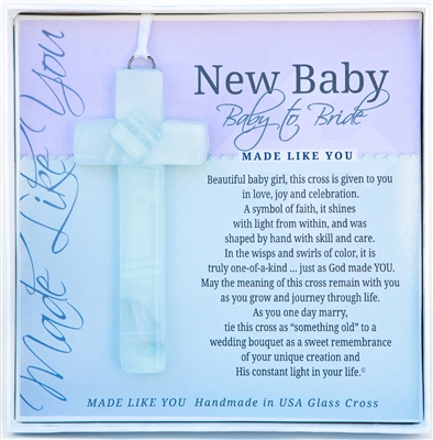Baby to Bride Glass Cross