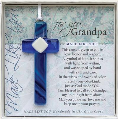Grandpa Cross Handmade Glass