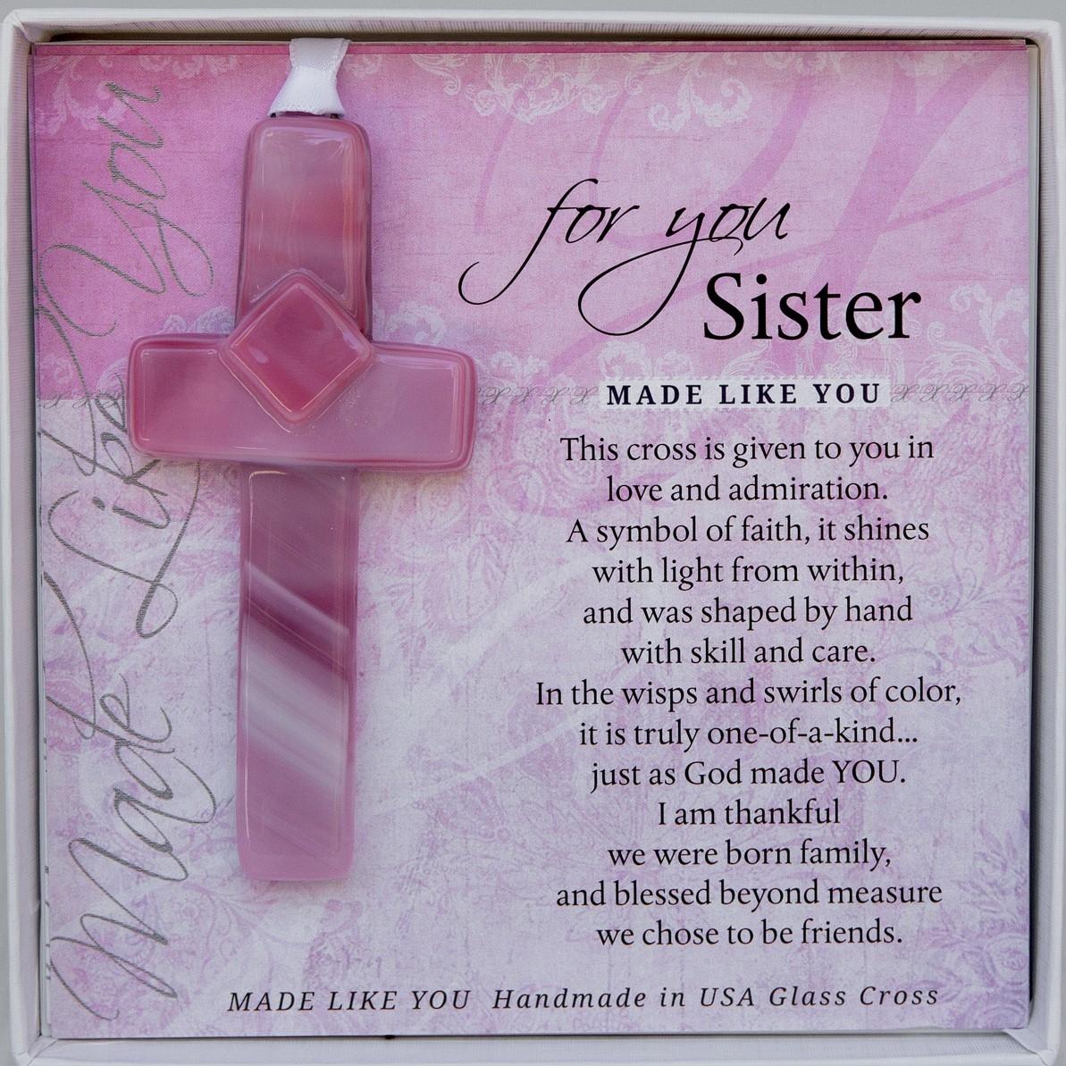Sister Cross Handmade Glass